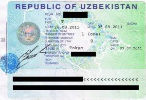 visto d'ingresso Uzbekistan