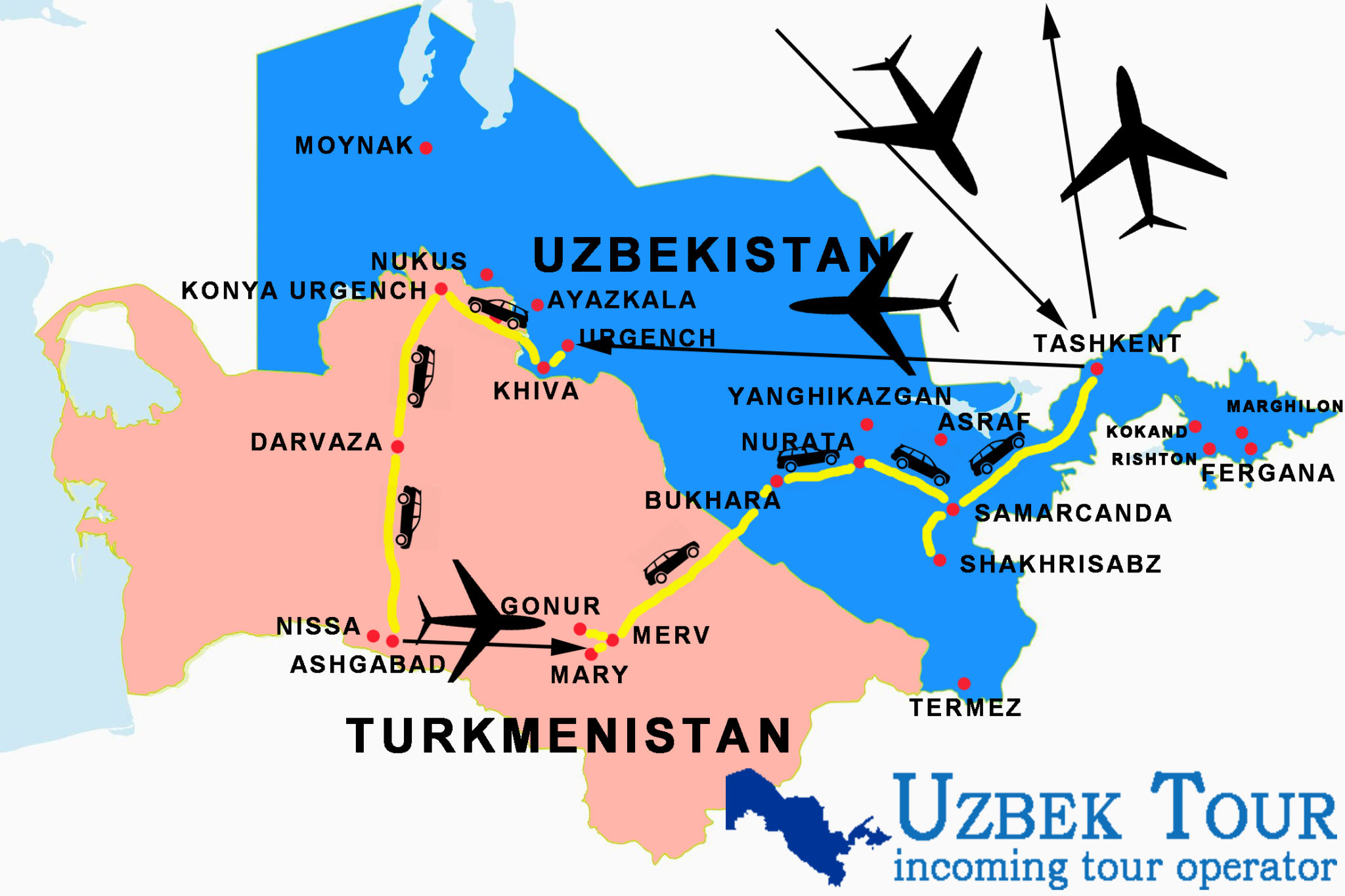tour tu uzbekistan and turkmenistan