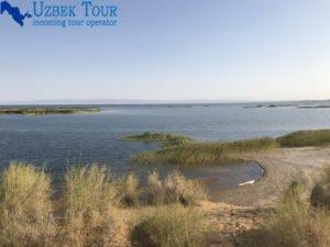 Lago Aydar Aydarkul in Uzbekistan