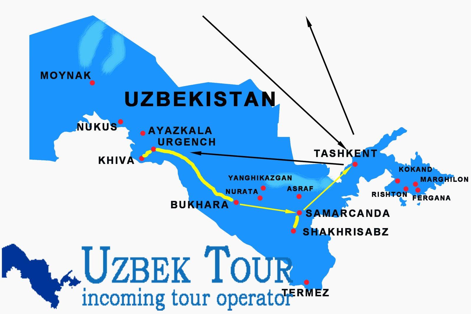 10 days tour uzbekistan