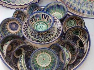 Rishtan ceramica in Uzbekistan
