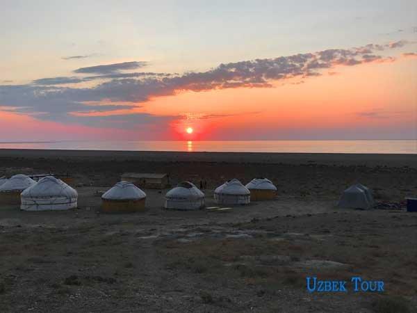 aral sea - yurta